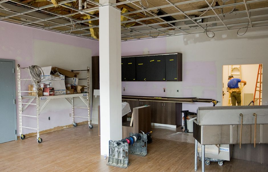 FILE PHOTO: The former Gifts in a Basket- Brat & Me store is being renovated to make way for the new Caffe del Mondo at 51 N. Main St. in Southington, Thursday, August 6, 2015. | Dave Zajac / Record-Journal