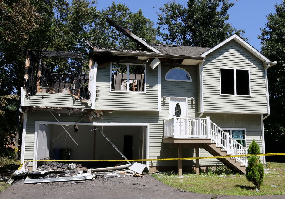 A burnt out home at 67 Morley Drive in Meriden on Thursday August 15, 2019 from an early morning fire. Aaron Flaum, Record-Journal Staff