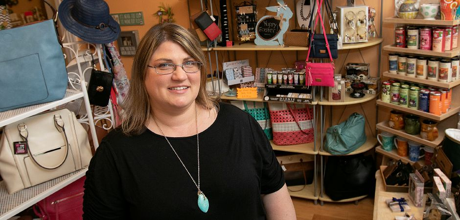 Dorothy DiBenedetto, owner of The Gift Box shop, 131 Main St., South Meriden. Dave Zajac, Record-Journal