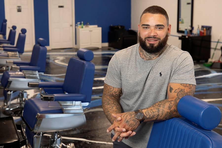 Eddie Rivera owns  New Style Hair Studio, located at 975 Broad St. in Meriden. The barbershop specializes in traditional, modern and urban haircuts and is autism certified. Rivera hopes to hold a soft opening this week. Photos by Dave Zajac, Record-Journal