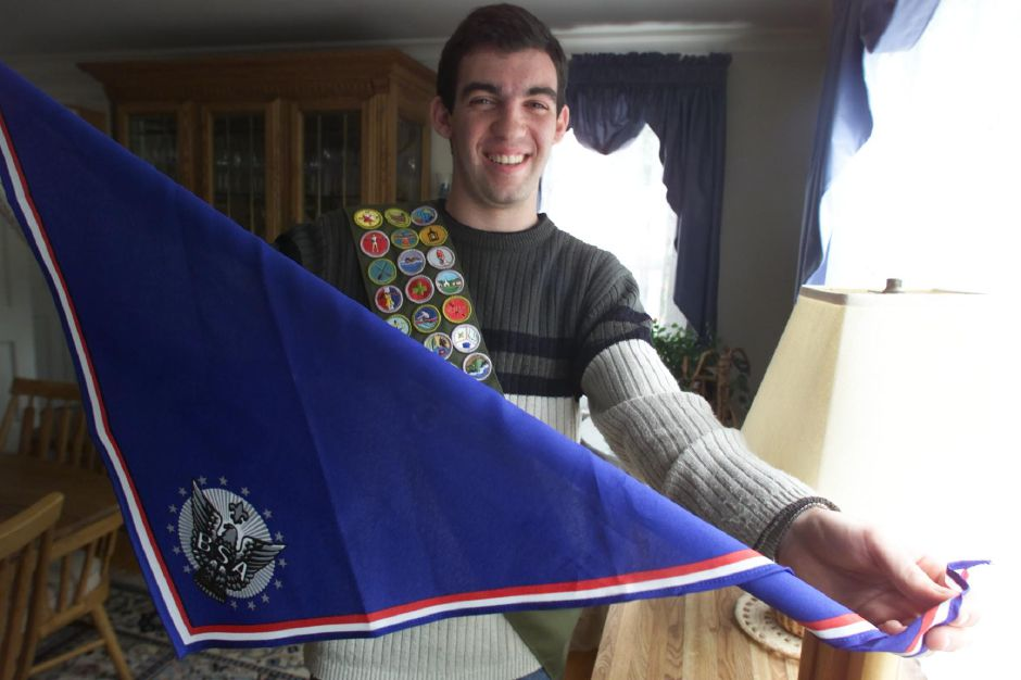 David Luft of Meriden has recently received his Eagle Scout award from the Boy Scouts of America - June 2000.