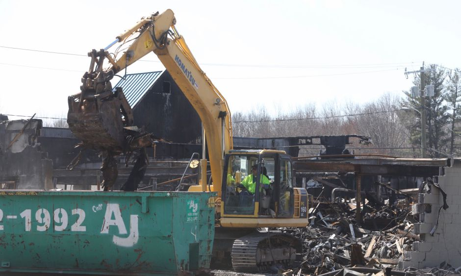 Demolition crews continue cleanup of the former Tops Market in Southington, Wed. Apr. 3, 2019.  Dave Zajac, Record-Journal