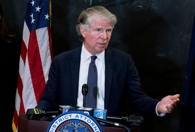 FILE - In this Feb. 24, 2020, file photo, Manhattan District Attorney Cyrus Vance Jr., speaks at a news conference in New York. Vance has obtained copies of Donald Trump