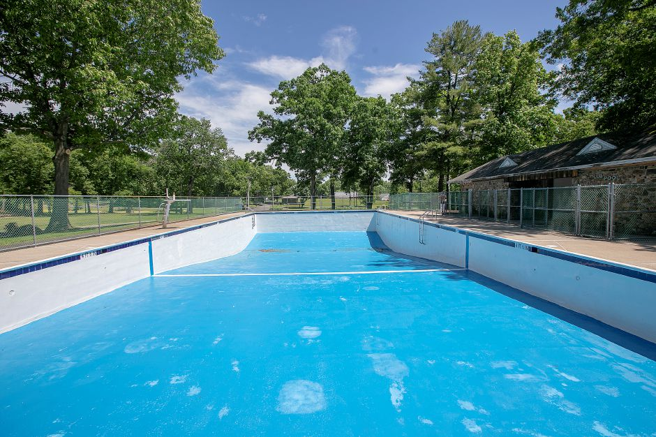 The community pool at Hubbard Park, Tues., June 11, 2019. The newly painted pool is scheduled to open Monday, June 17 but the date is tentative. Dave Zajac, Record-Journal