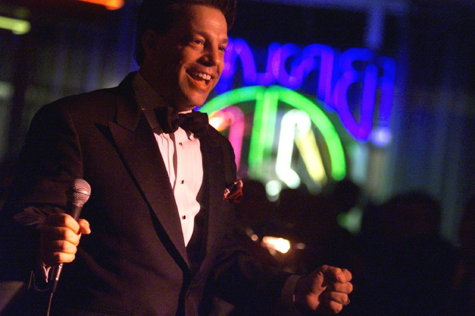 Steve Lippia croons at Birdland in NYC on Monday, June 12, 2000.