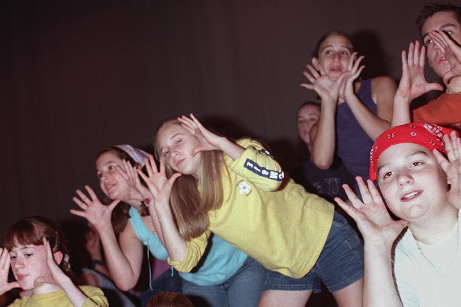"The Southington Summer Youth Theater Program rehearses ""Free to be You and Me"" at Southington High School Monday morning July 24, 2000."