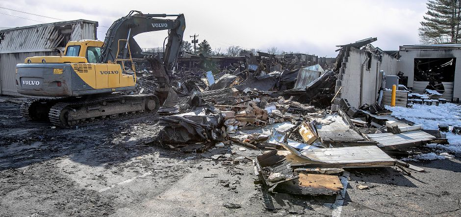 The northeast corner of the former Tops Market in Southington, Thurs., Mar. 7, 2019. The business was destroyed by a blaze on Sunday. Dave Zajac, Record-Journal