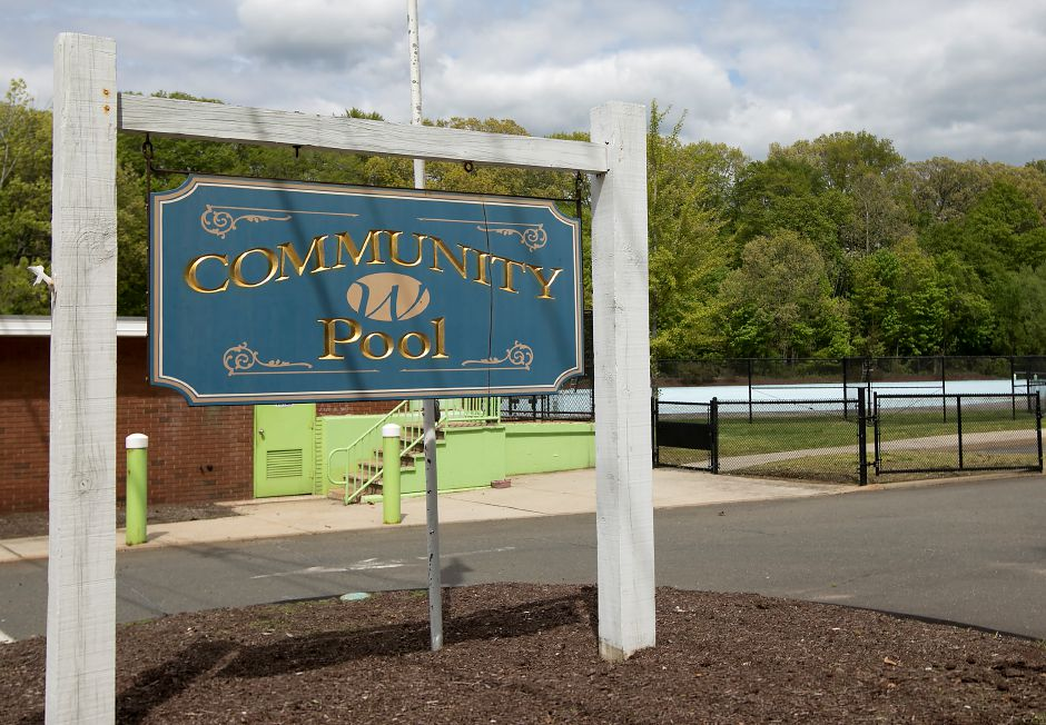 The Wallingford Community Pool on North Main Street Ext., Thursday, May 11, 2017. The community pool will open next month for the summer season, but the pool's future beyond this year is up in the air, town officials say. | Dave Zajac, Record-Journal