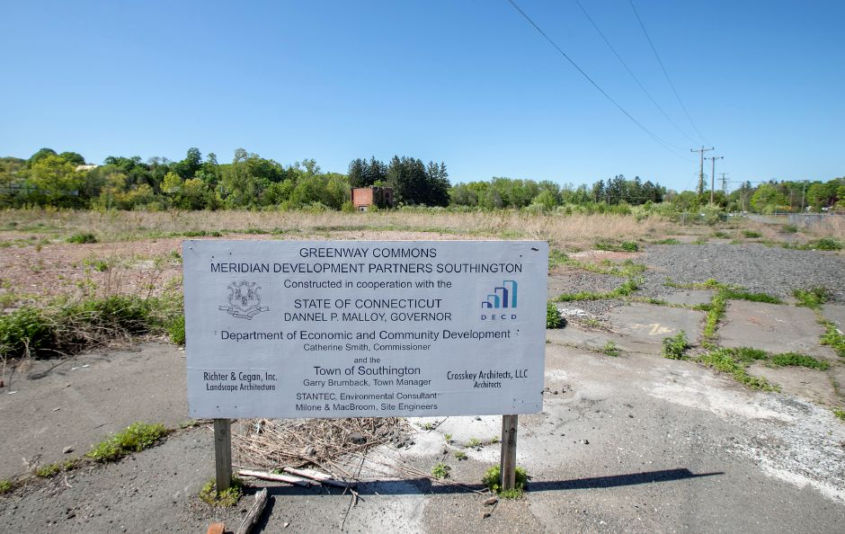 The former Ideal Forging site as seen from Center Street in Southington, Wed., May 20, 2020. Owners of the site are hopeful about an upcoming auction for the 14-acre property. Dave Zajac, Record-Journal