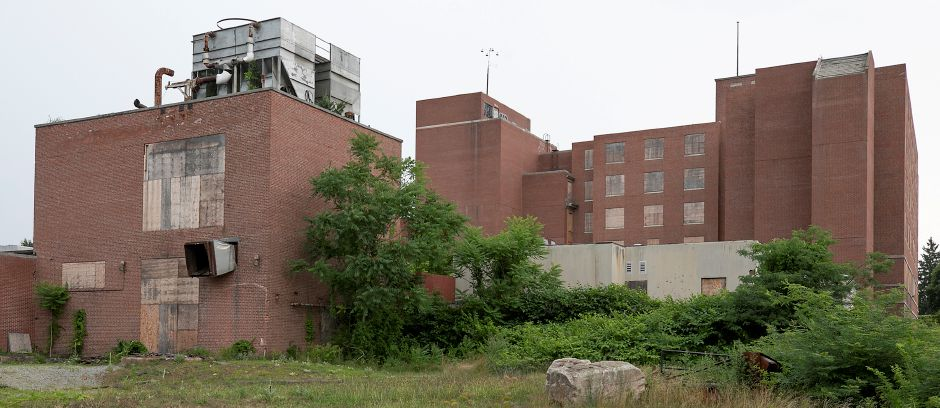 The former Meriden-Wallingford hospital on Cook Avenue in Meriden, Wed., Jul. 8, 2020. Hartford Healthcare will pay 300,000 toward cleanup costs of the blighted building. Hartford HealthCare is the parent company of MidState Medical Center which sold the building more than 20 years ago. Dave Zajac, Record-Journal