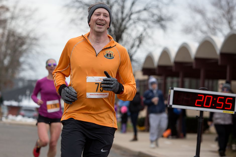Walter Schwarz of Wallingford finished first for the men Sunday during the Kiwanis Turkey Trot 5k and 5 mile at Stephens School in Wallingford November 18, 2018 | Justin Weekes / Special to the Record-Journal