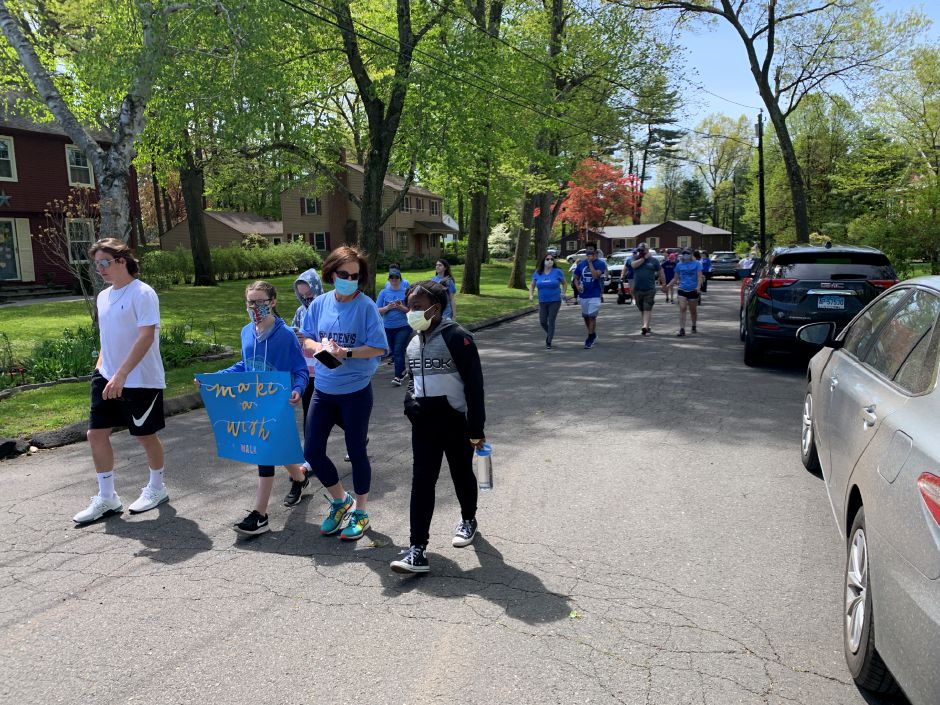 Kim Shumbo organized a neighborhood walk with friends and family for this year