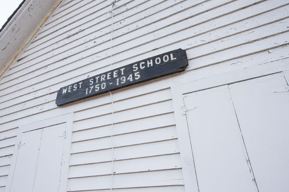 The West Street School in Southington, above and at left.