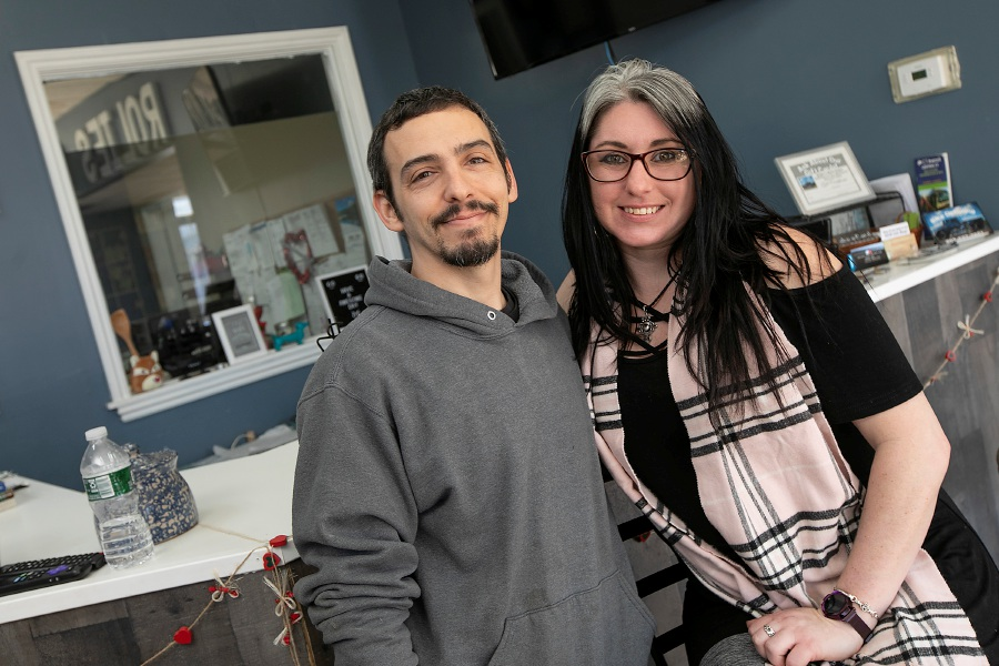 Rolie Hall and Ashlee MacDonald, the owners of Rolie's Auto Sales and Irish Fox Creations at 1440 Hanover Ave., Meriden.