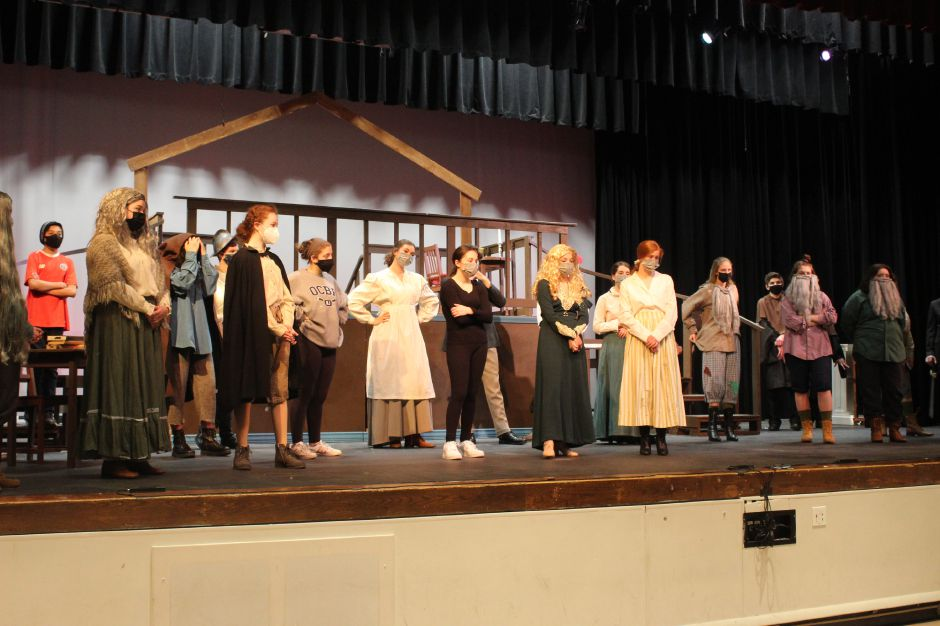 "The cast and crew of Cheshire High School's production of ""Little Women."" The play is based the classic book by Louisa May Alcott and tells the story of four sisters and their mother during the Civil War. Photos by Mariah Melendez, Cheshire Herald"