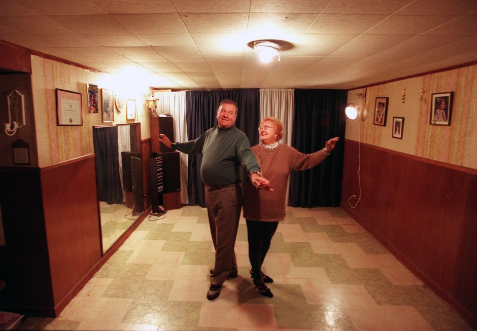 RJ file photo - Don and Jerry Dietle, of Wallingford, have been life partners for 40 years and dance partners for even longer, Feb. 1999.