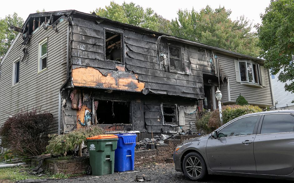 A house heavily damaged by fire at 32 Spice Hill Dr., Meriden, Mon., Sept. 28, 2020. Dave Zajac, Record-Journal