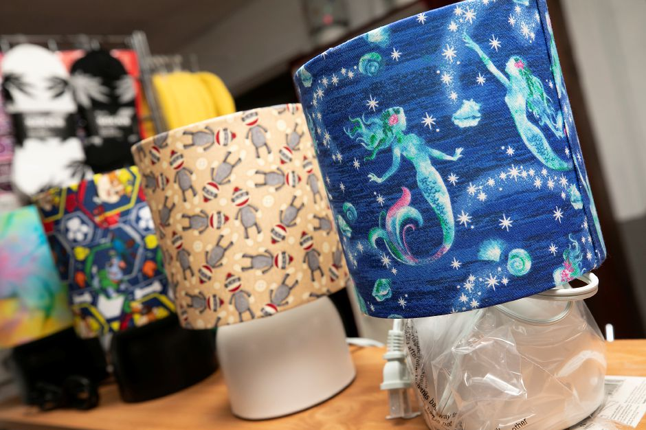 Artistic lamps offered at the new J&T Gifts and Novelty, 16A Center St., Wallingford, Tues., Jul. 7, 2020. Dave Zajac, Record-Journal