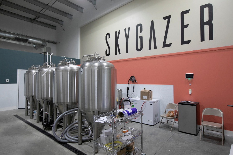 Skygazer, a new brewery nearing completion on Triano Drive in Southington, Thurs. Dec. 6, 2018. Brewery owners Taylor Pilewski of Wallingford and Erik Tynik of Bristol said they'll focus on brewing and have a small tasting area rather than attempt the brew pub business model. Dave Zajac, Record-Journal