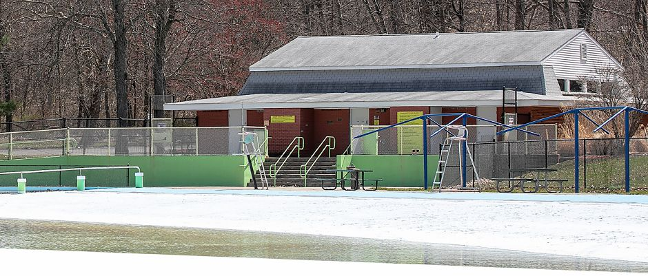 The Wallingford Community Pool, Tues., Apr. 7, 2020. Construction bids for Community Pool Park were opened last week and the lowest bid came in at nearly 6.2 million. Dave Zajac, Record-Journal